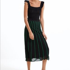Pleated striped skirt from Zara